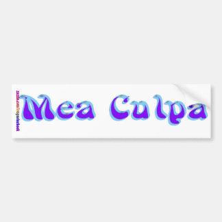 Mea culpa Psychedelic Graffiti Graphic Bumper Sticker