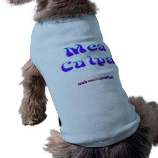 Mea culpa Psychedelic Graffiti Graphic Dog T Shirt
