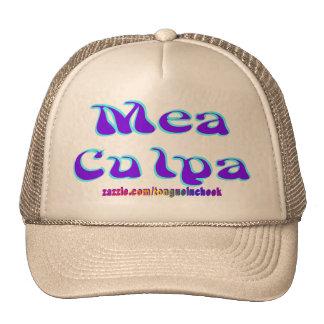 Mea culpa Psychedelic Graffiti Graphic Mesh Hats