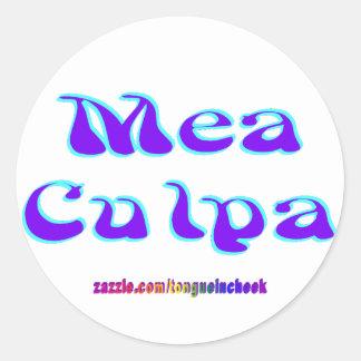 Mea culpa Psychedelic Graffiti Graphic Round Sticker