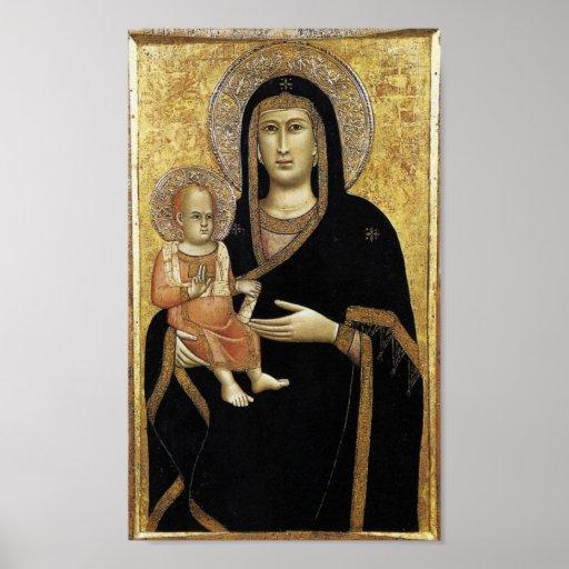 Mea Domina et Puer Pictura Giotti Florentiae Poster