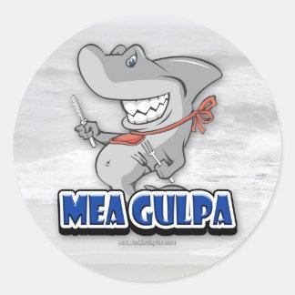 Mea Gulpa... Classic Round Sticker