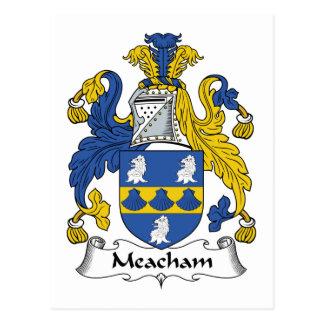 Meacham Family Crest Postcard