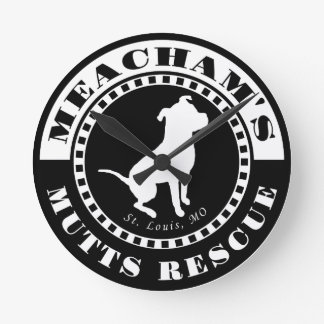 Meacham's Mutts Logo Round Wall Clock