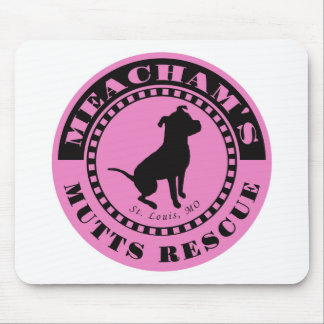 Meachams Mutts Logo Pink Mousepad