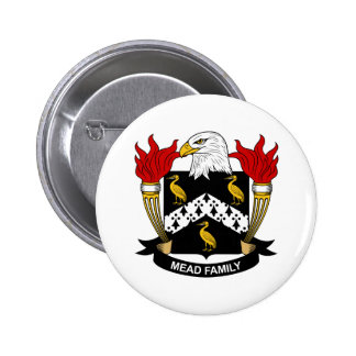 Mead Family Crest Pinback Button