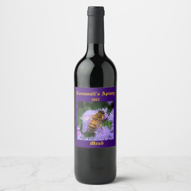 Mead Honey Wine Label
