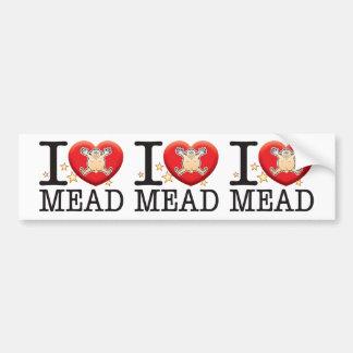 Mead Love Man Car Bumper Sticker