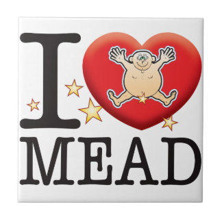 Mead Love Man Small Square Tile