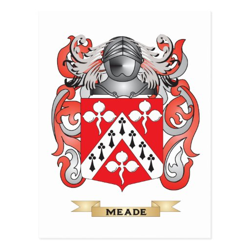 Meade Coat of Arms (Family Crest) Post Cards