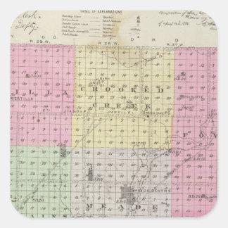 Meade County, Kansas Square Sticker