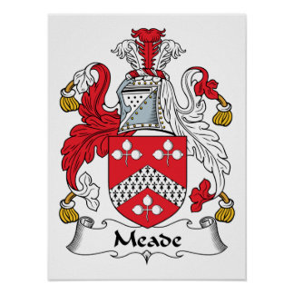 Meade Family Crest Poster