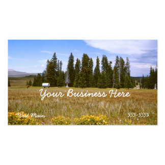 Meadow and Pine Tree Business Card