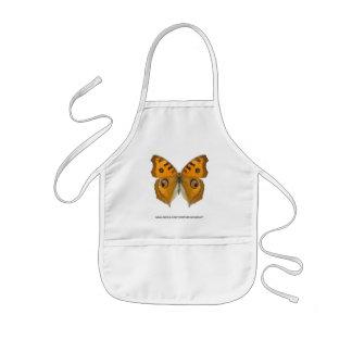 Meadow Argus Butterfly Kids' Apron