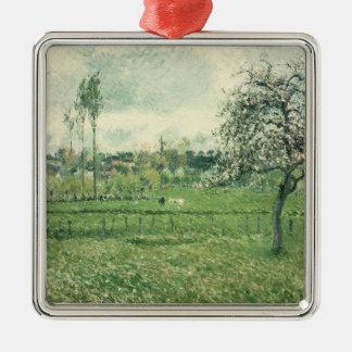 Meadow at Eragny, 1885 Metal Ornament