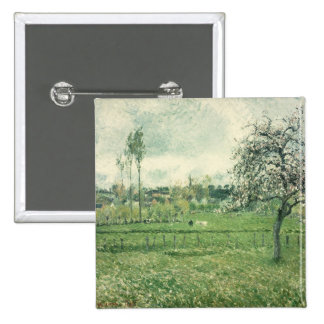 Meadow at Eragny, 1885 Pinback Button