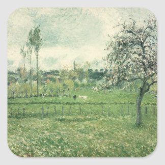 Meadow at Eragny, 1885 Square Sticker