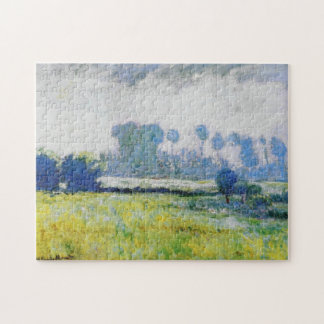 Meadow at Giverny Morning Monet Fine Art Jigsaw Puzzle
