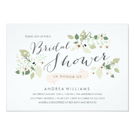 Meadow Blooms Bridal Shower Invite