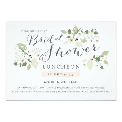 meadow blooms bridal shower invite zazzlecom