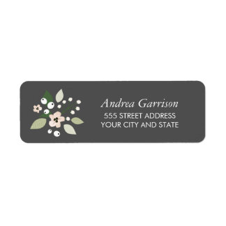 Meadow Blooms Return Address Label