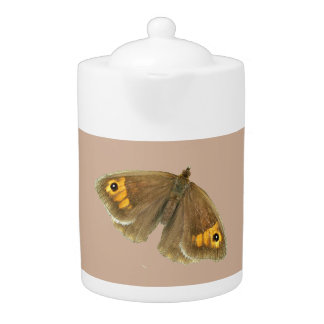 Meadow brown butterfly design teapots