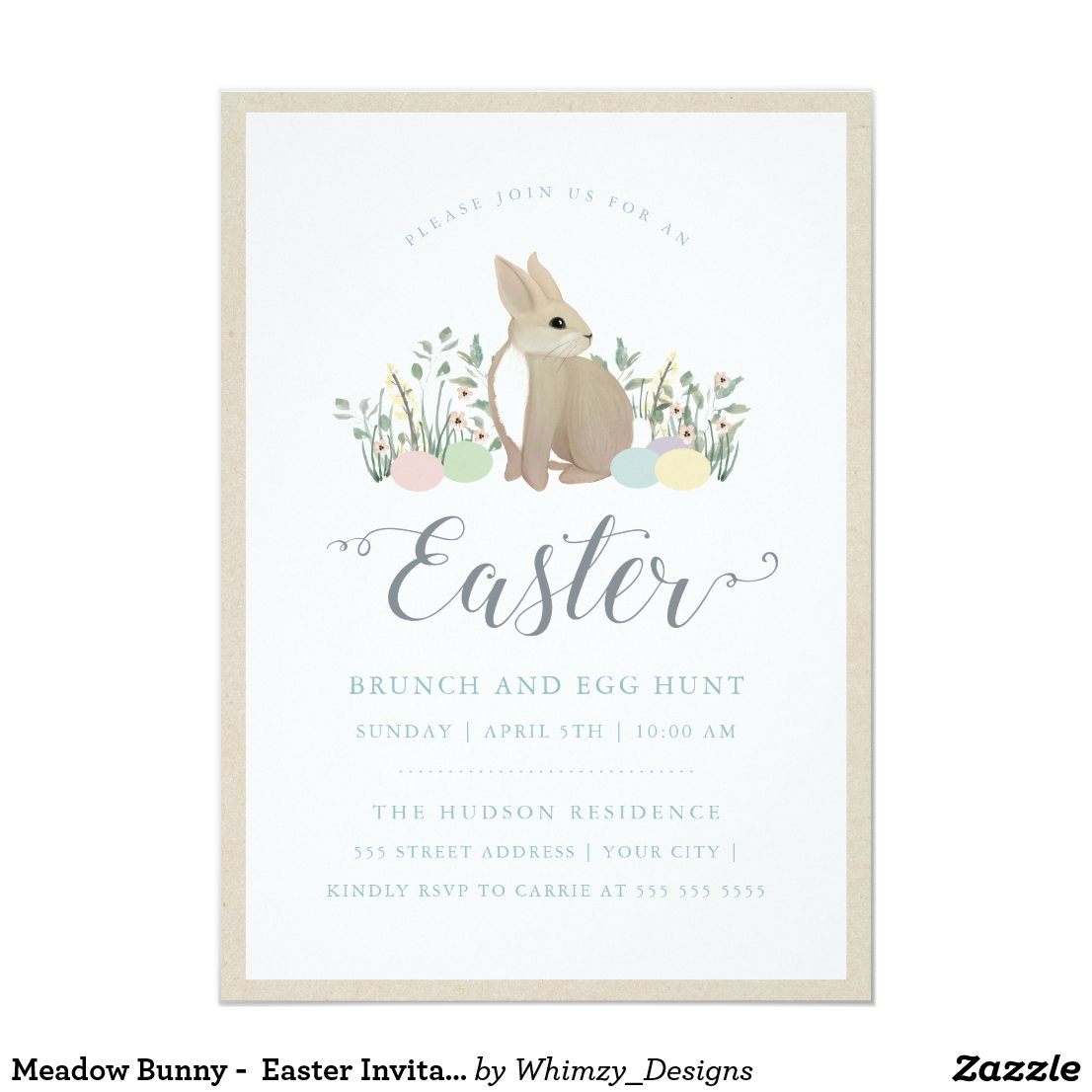 Meadow Bunny -  Easter Invitation