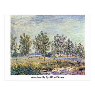 Meadow By By Alfred Sisley Postcard