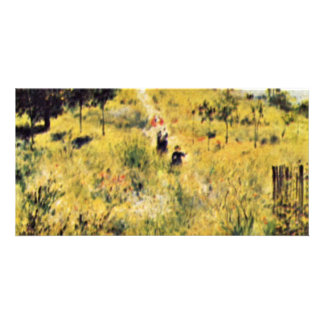 Meadow By Pierre-Auguste Renoir (Best Quality) Personalized Photo Card