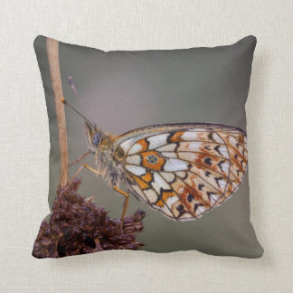 Meadow Dreams Butterfly grey Throw Pillow