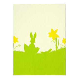 Meadow Easter bunny narcissuses Card