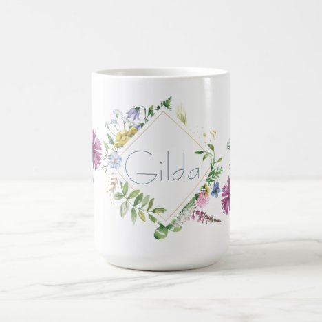 Meadow Flowers Monogram Personalized Mug