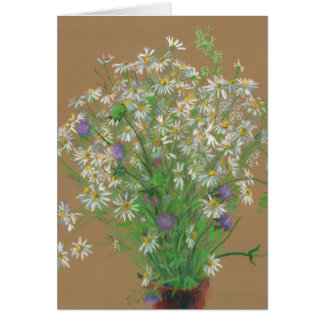 Meadow flowers, pastel painting, floral art