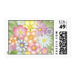 meadow flowers postage stamps