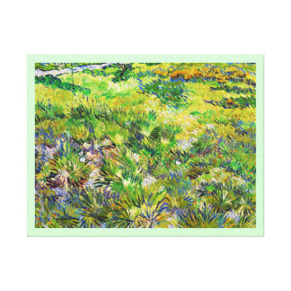 Meadow Garden Saint-Paul Hospital Vincent van Gogh Stretched Canvas Print