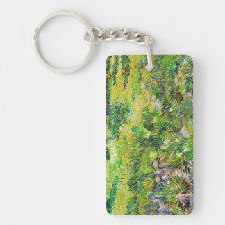 Meadow Garden Saint-Paul Hospital Vincent van Gogh Double-Sided Rectangular Acrylic Keychain