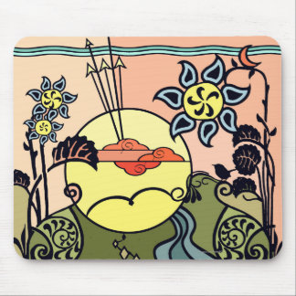 Meadow Gate at Sunrise Art Mouse Pad