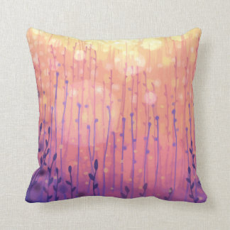 Meadow Glow 2 throw pillow
