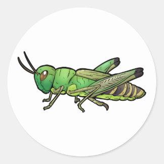 Meadow Grasshopper Classic Round Sticker