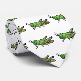 Meadow Grasshopper Neck Tie