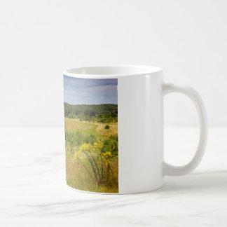 Meadow Landscape, Green Hills and Blue Sky Coffee Mug
