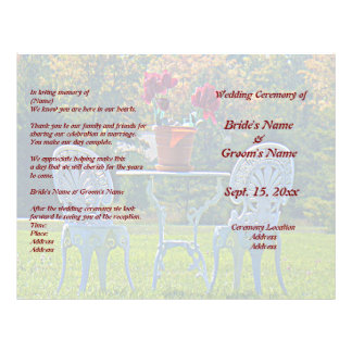 Meadow of Love and Autumn Tree Wedding Flyer