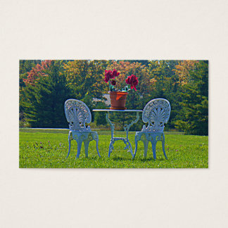Meadow of Love Autumn Leaves Wedding Registry Card
