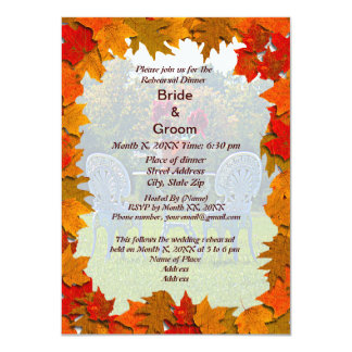Meadow of Love Autumn Rehearsal Dinner Invite