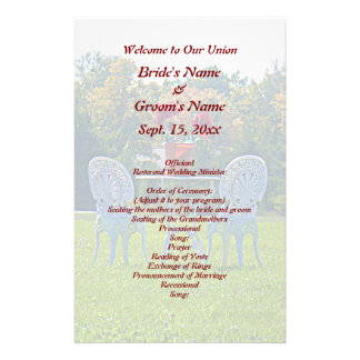 Meadow of Love - Autumn Tree Wedding Flyer