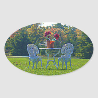 Meadow of Love Oval Stickers
