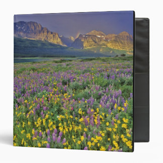 Meadow of wildflowers in the Many glacier 3 Ring Binder