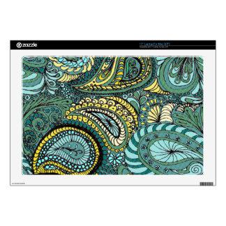Meadow Paisley laptop skin