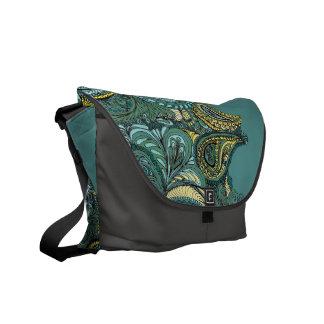 Meadow Paisley messenger Messenger Bag