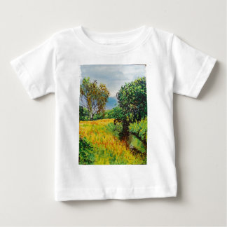 Meadow River Watercolor Baby T-Shirt